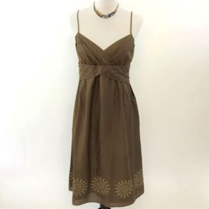 NWOT Ann Taylor Loft Brown Cotton Dress 6